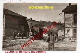 MONCHEUTIN-FELDBAHN-Locomotive-TRAIN-Carte Photo Allemande-Guerre14-18-1WK-Militaria-Eisenbahn-Transport-France-08-Feldp - France