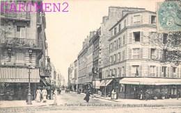 PARIS LA RUE DU CHERCHE-MIDI PRISE DU BOULEVARD MONTPARNASSE 75006 - Arrondissement: 06