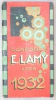 Mini Calendrier. E. Lamy. Confiserie Lyon. 1932. - Calendriers