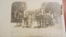 AK Foto-Postkarte Mit 2 Pferdekutschen Um 1910 - Fotografie