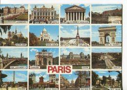 CPM : PARIS : Carte Représentant 16 Petites Multivues De Monuments Et Divers édifices De PARIS - Autres Monuments, édifices