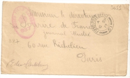 PASSED FIELD CENSOR 887 + FIELD POST OFFICE 51 Sur Devant. - Postmark Collection (Covers)