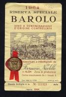 # BAROLO ALBA 1964 Wine Label Italy, Wein Vino Vin Etiquettes Etiquetas Etikett Castle - Castles
