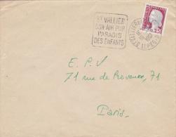 Saint-Vallier Alpes-maritimes 1961 - Daguin Sur Decaris - Paradis Des Enfants - Maschinenstempel (Werbestempel)