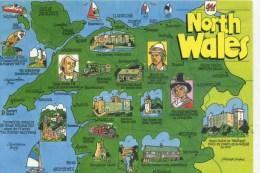 MAP - JOHN HINDE - NORTH WALES  2WS 435 - Maps