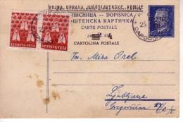 ISTRA  VUJA -STT  STEMPEL  CAPODISTRIA-KOPER  1952 - Slovenia