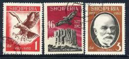ALBANIA 1962 Independence Anniversary Set Used.  Michel 709-11 - Albania
