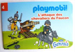 PLAYMOBIL mini livret 4 CHEVALIERS pour GERVAIS