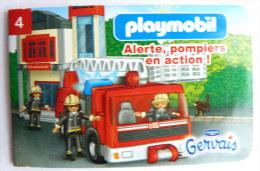 PLAYMOBIL mini livret 4 LES POMPIERS pour GERVAIS