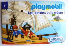 PLAYMOBIL mini livret 7 LES PIRATES pour GERVAIS