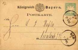 Königreich  Bayern - Postkarte - 5 Peennig Incruté Gauffré - Prêt à Poster - à Circulé - Dos Simple - - Oblitérés
