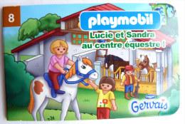 PLAYMOBIL mini livret 8 LE CENTRE EQUESTRE pour GERVAIS