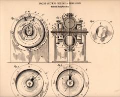 Original Patentschrift - Ludwig Piening In Elmshorn , 1898 , Rotierende Dampfmaschine !!! - Maschinen