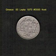 GREECE    50  LEPTA  1970  (KM # 88) - Griechenland