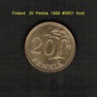 FINLAND    20  PENNIA  1988  (KM # 47) - Finland