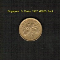 SINGAPORE    5  CENTS  1987  (KM # 99) - Singapore