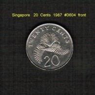 SINGAPORE    20  CENTS  1987  (KM # 53) - Singapore