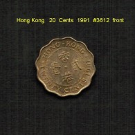 HONG KONG    20  CENTS  1991  (KM # 59) - Hong Kong