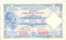 Loterie Coloniale Colonie Du Congo 50Fr   1937 11é Tranche - Billetes De Lotería