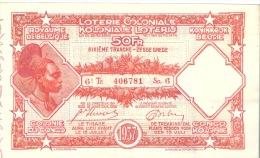 Loterie Coloniale Colonie Du Congo 50Fr   1937 6é Tranche - Billetes De Lotería