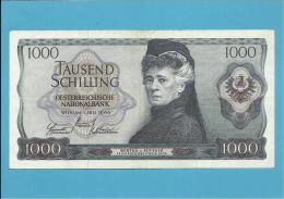 AUSTRIA - 1000 SCHILLING - 01.07.1966 ( 1970 ) - P 147 - Autriche