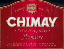 Bieretiket Etiquette De Bière Beerlabel Chimay Pères Trappistes Première - Cerveza