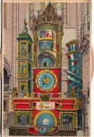 L'HORLOGE ASTRONOMIQUE, Astronomische Münsteruhr, Mechanische Ansichtskarte, Karte Mit Verstellbarer Drehscheibe - Dreh- Und Zugkarten