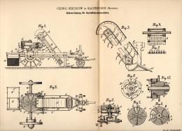 Original Patentschrift - Georg Reichow In Kaufbeuren , 1891 , Siebapparat Für Kartoffelerntemaschinen , Landwirtschaft ! - Maschinen