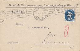 INFLA: DR 128 EF, Auslands-Karte Mit Gelegenheits-Stempel (Filbrandt 2.1ay): Ludwigshafen Postscheckkonto 1.IV.1921 - Deutschland