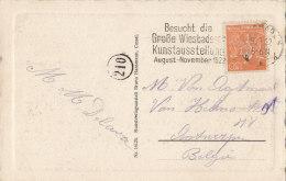 INFLA: DR 189 EF Auf AK: Kochbrunnen, Mit Gelegenheits-Stempel(Filb Randt 346): Wiesbaden -/b1b ...Kunstausst...9.9.1922 - Infla