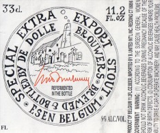Bieretiket Etiquette De Bière Beerlabel Dolle Brouwers Special Extra Export Stout - Beer