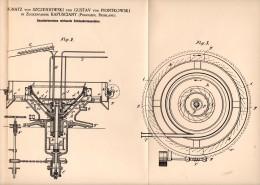 Original Patentschrift - I. Von Szczeniowski Und G. Von Piontkowski In Zuckerfabrik Kapusciany , Russland , 1892 !!! - Maschinen