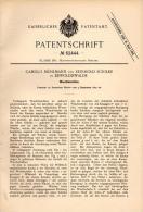 Original Patentschrift - C. Mühlmann Und R. Schilke In Dippoldiswalde , 1891 , Waschmaschine , Wäscherei !!! - Maschinen