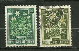"""Autriche Oblitéré ; Y & T ; 723, 731  ; """" Fleurs """" - 1945-60 Oblitérés"""