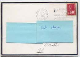 """1974--Lettre De Décès (bords Noirs) De POITIERS-gare--oblitérati On""""Caisse Nationale D´Epargne-La Poste""""pour Rouillé -86 - Marcophilie (Lettres)"""