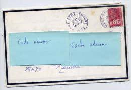 1975--Lettre De Décès (bords Noirs) De LE MANS-gare--72- Pour Rouillé -86-cachet Rond LE MANS-GARE-- - Marcophilie (Lettres)