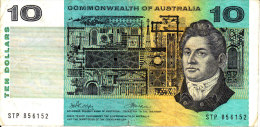 Australia 1972 $10 Commonwealth Of Australia SXL - 1966-72 Reserve Bank Of Australia
