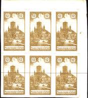 POLAND 1918 ZARKI Local Forgery Fi 3 Block Of 6 - ....-1919 Übergangsregierung