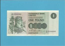 SCOTLAND - UNITED KINGDOM - 1 POUND - 01.03.1977 - P 204c - CLYDESDALE BANK PLC - [ 3] Scotland