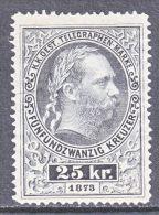 Austria  Telegraph  18 C    Perf 12 1/2   * - Telegraph