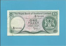 SCOTLAND - UNITED KINGDOM - 1 POUND - 02.05.1978 - P 336 - THE ROYAL BANK OF SCOTLAND LIMITED - [ 3] Scotland