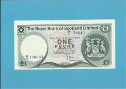 SCOTLAND - UNITED KINGDOM - 1 POUND - UNC. - 03.05.1976 - P 336 - THE ROYAL BANK OF SCOTLAND LIMITED - [ 3] Scotland