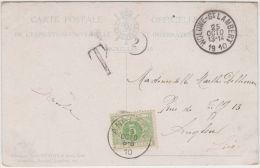 02101a Woluwe-St-Lambert 1910 CP Non Affr. Gff T V. Angleur Taxée Par TTx 3 C. Angleur 26/10/1910/ - Briefe U. Dokumente