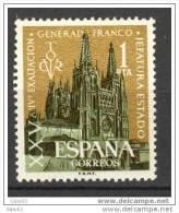 ES1373-L1994TARO.España. Spain .Espagne.Exaltacion De  Franco. Catedral De Burgos.1961.( Ed 1373**),sin Charnela. LUJO - Arquitectura
