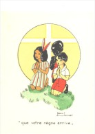 Image Pieuse - Illustration De Marie Jaminet - Scout Press Verviers - Missions Des Pères Blancs - Images Religieuses