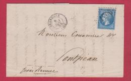 Lettre  De Granville   //  Pour Pontpean Par Rennes  //  9 Mai 1864 - 1849-1876: Periodo Classico