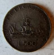 ITALIE - Pièce De 500 Lires - 1946-… : Republic