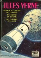 Jules Verne Voyage Au Centre De La Terre  Un Drame En Livonie De La Terre à La Lune Hachette 1966 TROIS En UN  TBE - Aventure