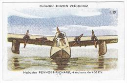 AVIATION - Hydravion Penhoet-Richard 4 Moteurs De 450 Cv  - Chromo Bozon-Verduraz C.35 (7.6x4.8cm Environs) - Chromos