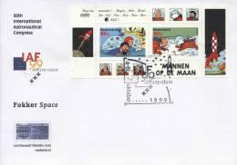 Leuke Envelop Kuifje / Mannen Op De Maan (1999, NVPH Nr. 1839) - Covers & Documents
